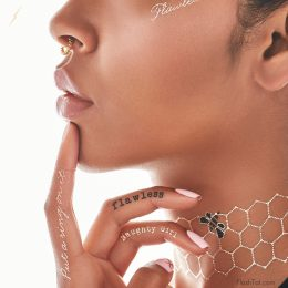 Beyoncé launches metallic tattoo collection