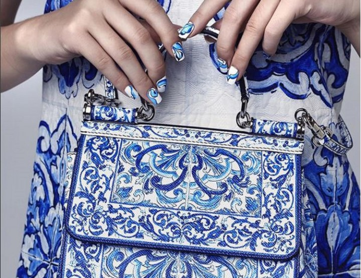 On the tiles | Dolce & Gabbana nails