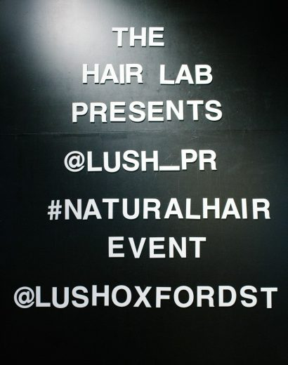 Lush natural hair event