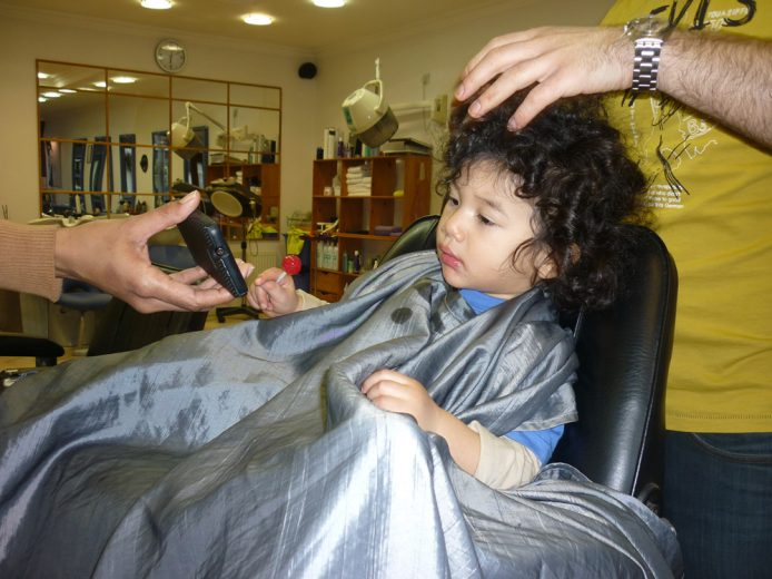 When do you give your child their first hair cut?