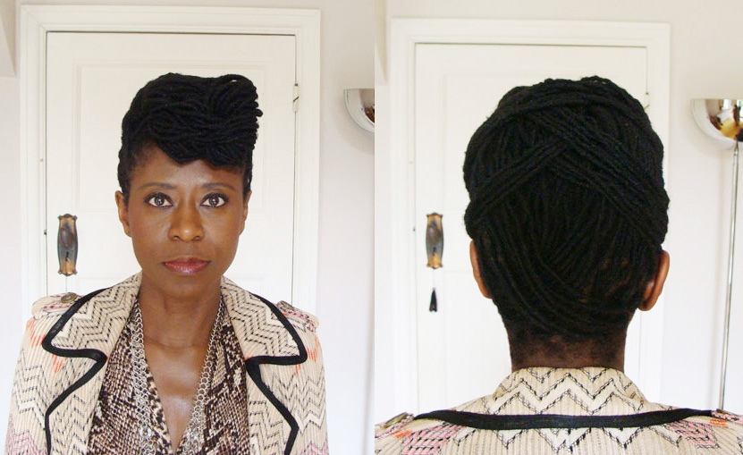 How I styled my long locs into a quiff