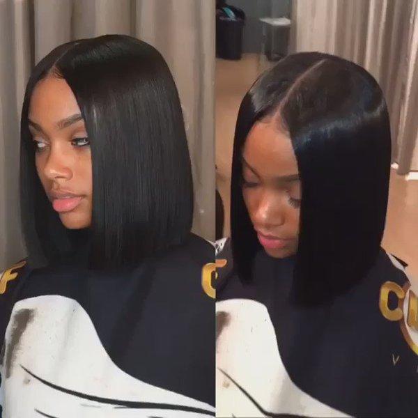 Blunt Cut Weave Cap: The Hottest Celebrity Hair Trend: Centre-part Bob