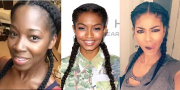 TLCs (Two Long Cornrows)- super quick protective style