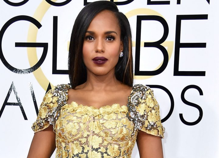 Kerry Washington goes plum