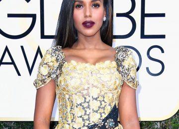 Kerry Washington - 2017 Golden Globes Hair Breakdown