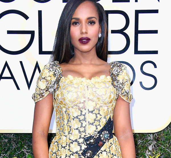 Kerry Washington - 2017 Golden Globes Hair Breakdown