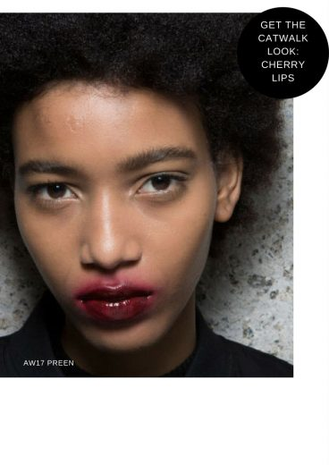 LFW A/W17 Trend: Smudged lips