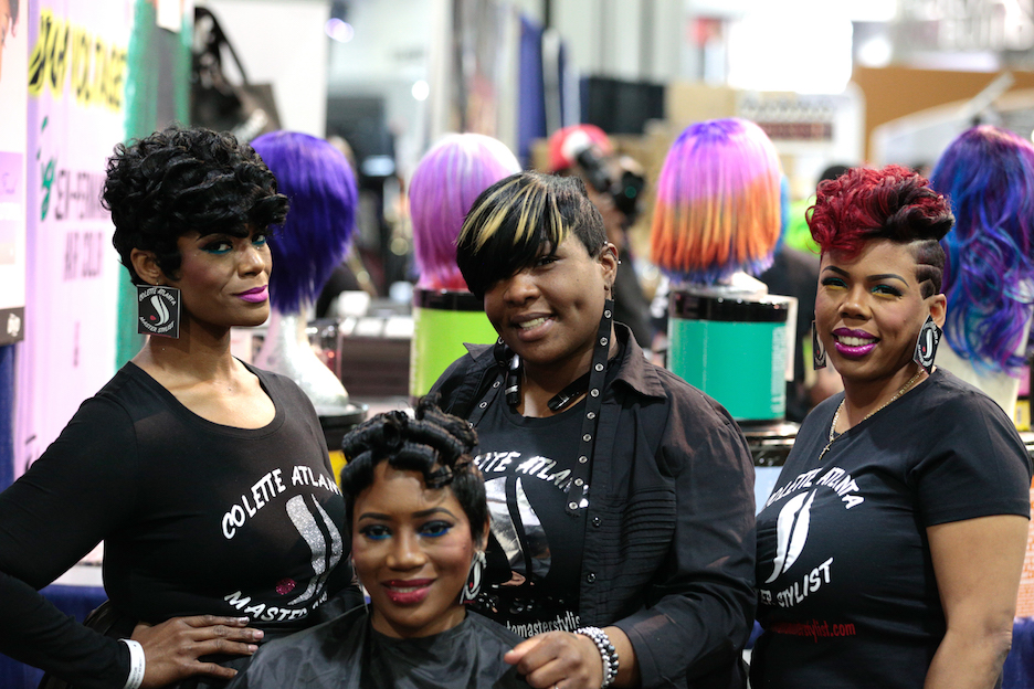 Hair models with Atlanta masterstylist Colette B. Alexander (center)/@coletteatlantamasterstylist