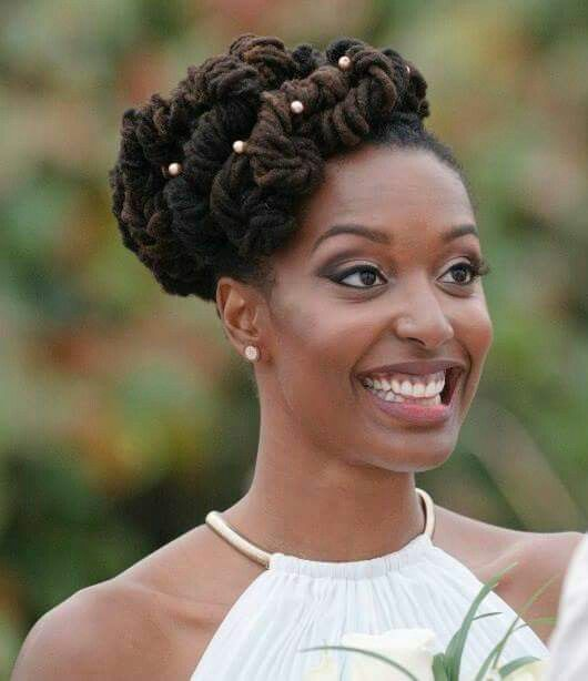 36 wedding hairstyles for locs. Black Bedroom Furniture Sets. Home Design Ideas