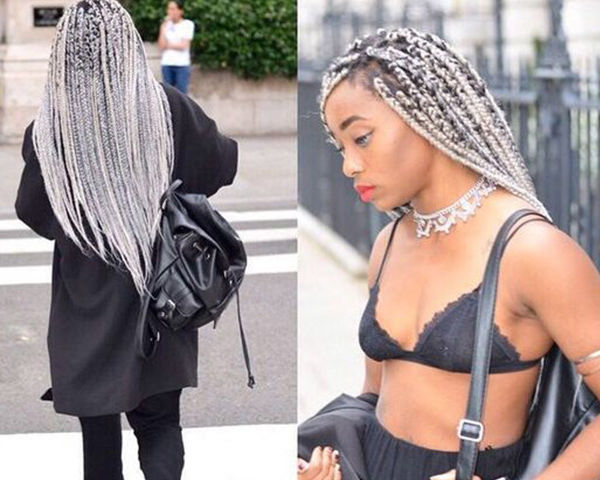 Ombré braids are making a great summer statement