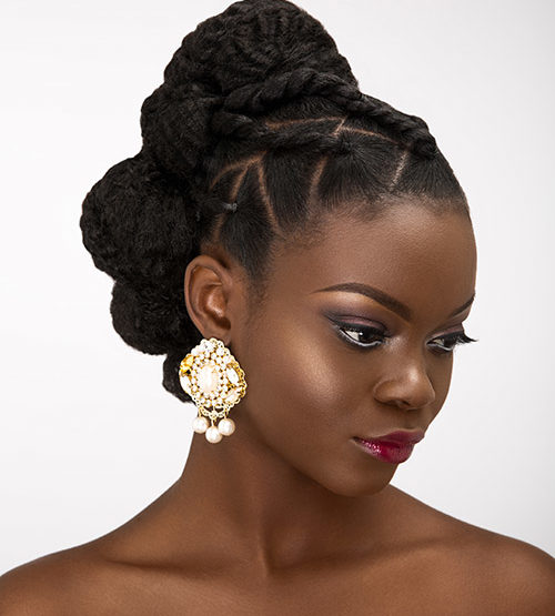 Bridal updos for natural hair