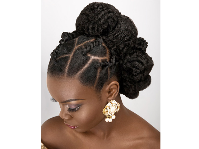 Bridal updos for natural hair by Dionne Smith