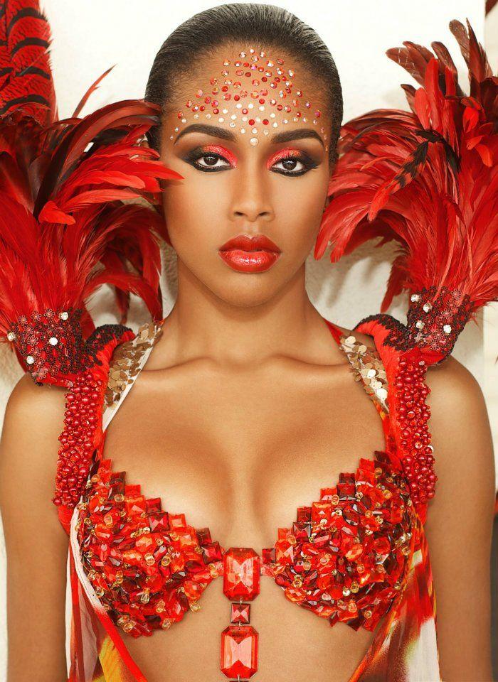 бразильский карнавальный макияж фото