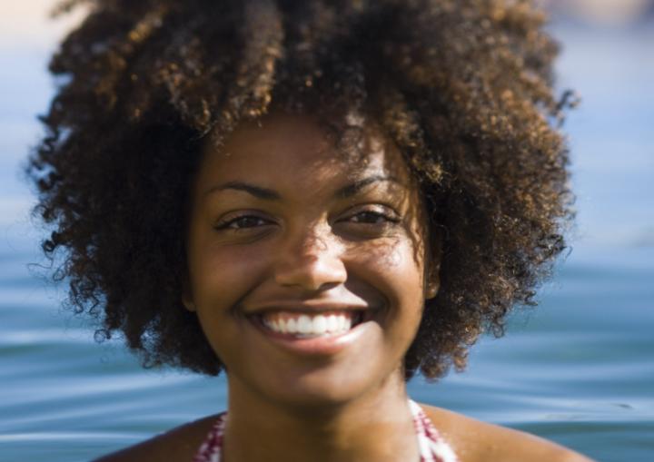 Natural hair and swimming
