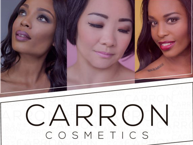 Carron Cosmetics makes its debut