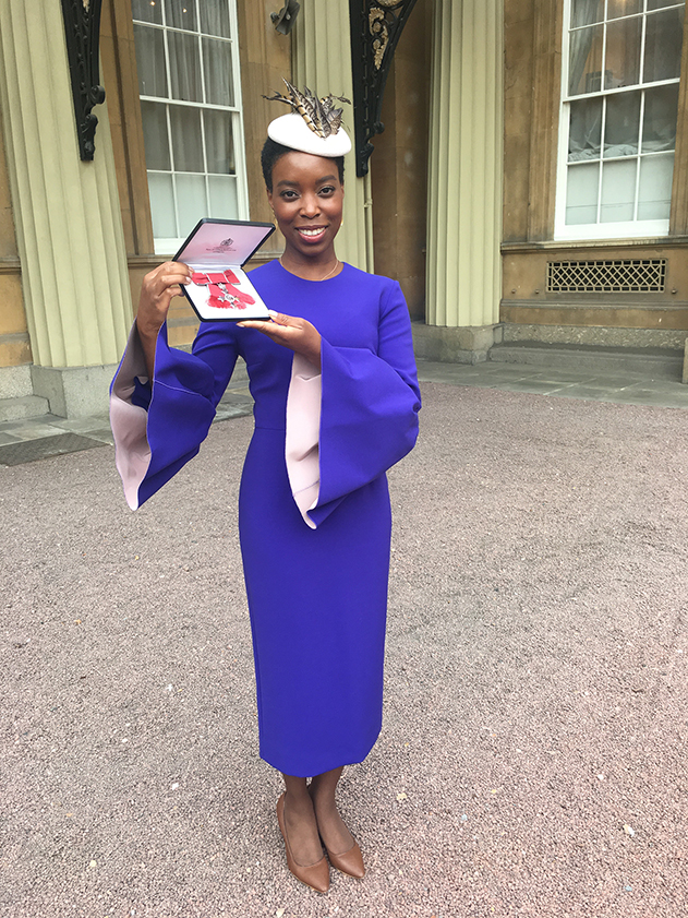 05bc1e1bf Ade Hassan founder and director of Nubian Skin received her MBE yesterday  from Prince William at Buckingham Palace