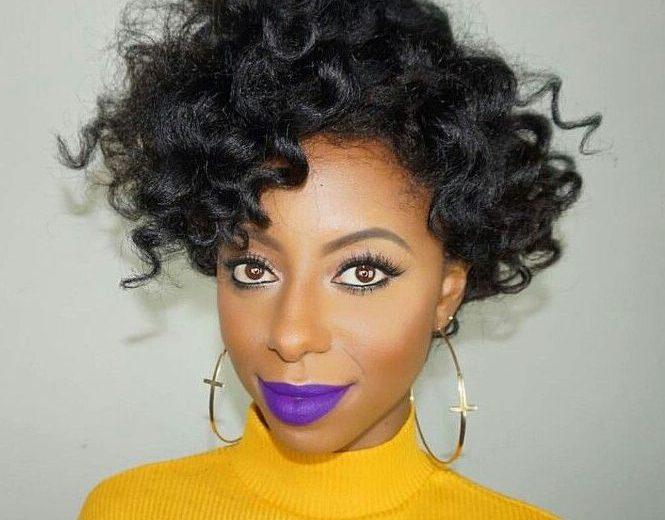 Purple lipsticks for the fierce black girl