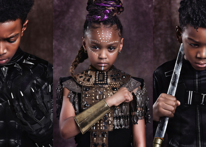 Black Panther inspired shoot casts black children as superheroes