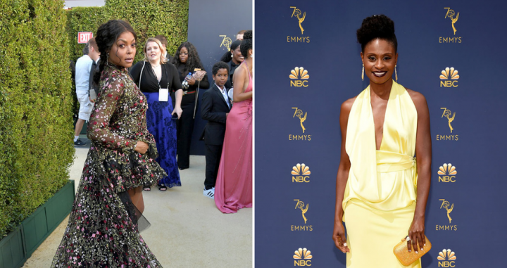 Taraji P Henson and Adina Porter's hair looks at the 2018 Emmys