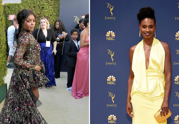 Taraji P Henson and Adina Porter's hair looks at the 2018 Emmys
