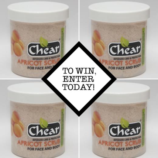 6 Chear Apricot Scrubs to be won!