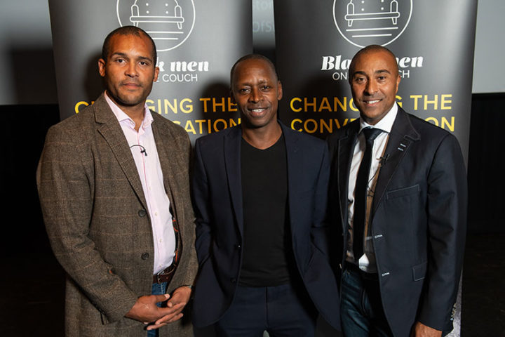 Colin Jackson and Clarke Carlisle encourage men to talk about mental health