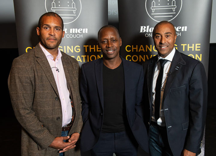 Colin Jackson and Clarke Carlisle encourage men to talk mental health