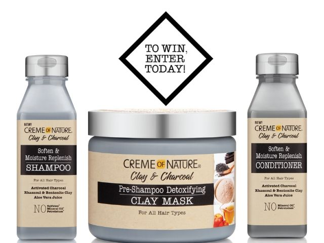 10x sets of the Crème of Nature Clay & Charcoal range to be won
