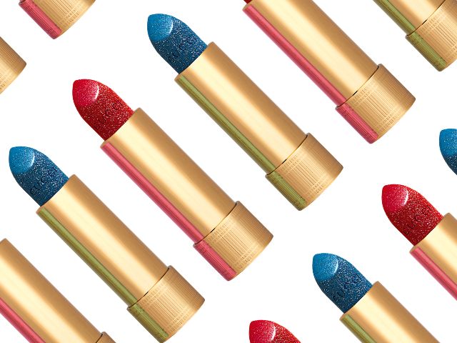 Sparkle on the dancefloor with Gucci's glitter lipsticks