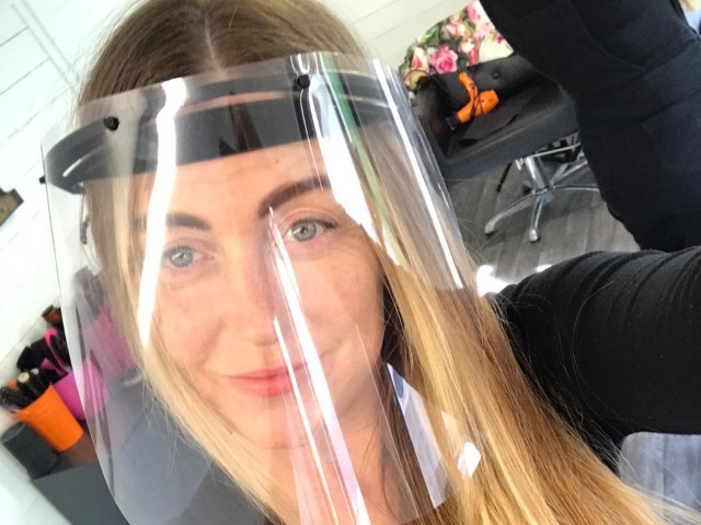 Is this face visor the future of hairdressing?