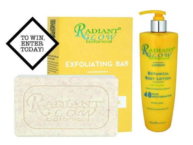 20x Radiant Glow Exfoliating Bars and 48 Hour Body Lotions