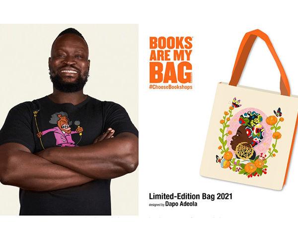 British Nigerian Illustrator Designs Bookshop Day 2021 Bag