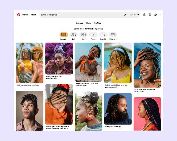 Pinterest's New Hair Pattern Search Recognises Diversity